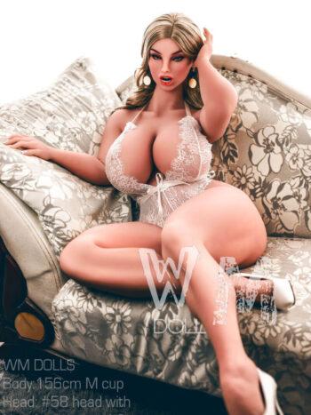 WM Doll 156CM Big Boobs Sex Doll Head #58
